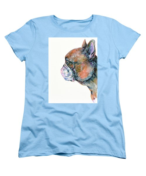 Red Fawn Frenchie Women's T-Shirt (Standard Cut)