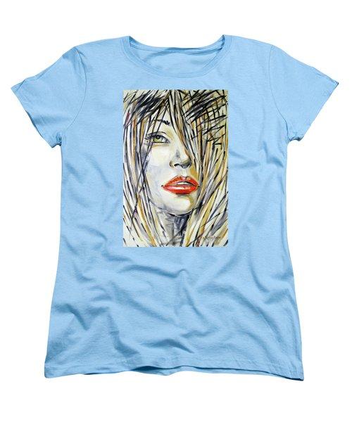 Red Lipstick 081208 Women's T-Shirt (Standard Cut) by Selena Boron