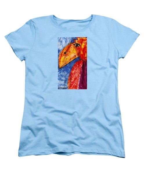 Red Parrot Women's T-Shirt (Standard Cut) by Don Koester