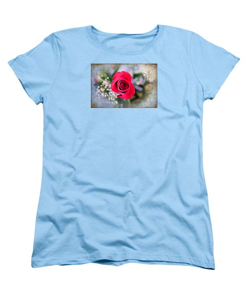 Red Rose Elegance Women's T-Shirt (Standard Cut) by Milena Ilieva