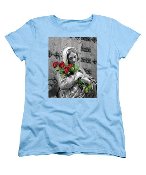 Red Roses Women's T-Shirt (Standard Cut) by Munir Alawi