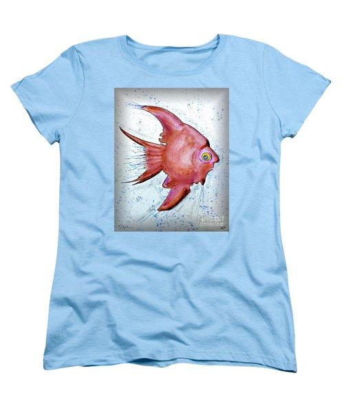 Women's T-Shirt (Standard Cut) featuring the mixed media Redfish by Walt Foegelle
