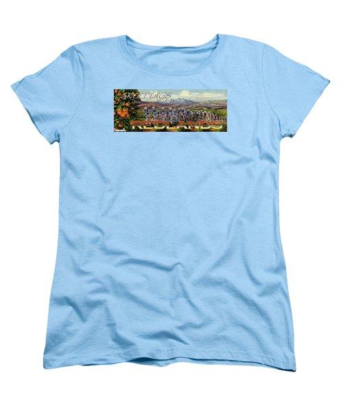 Redlands Greetings Women's T-Shirt (Standard Cut) by Linda Weinstock