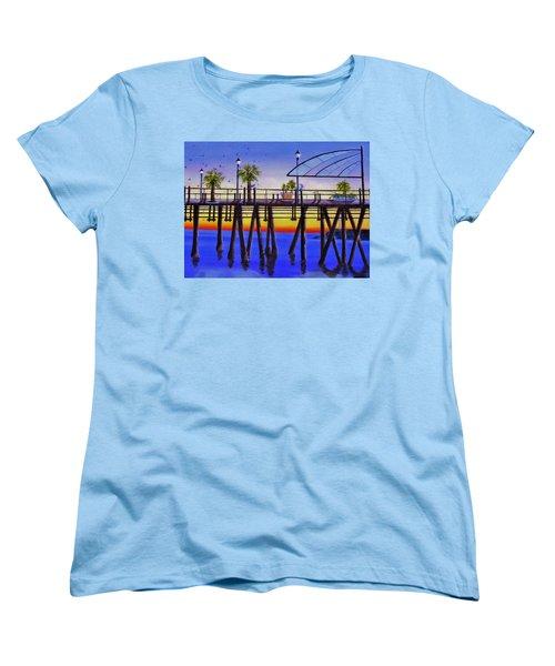 Redondo Beach Pier Women's T-Shirt (Standard Cut) by Jamie Frier
