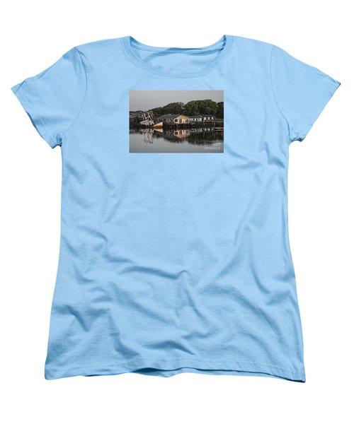 Reflection Noitcelfer Women's T-Shirt (Standard Cut) by Roberta Byram