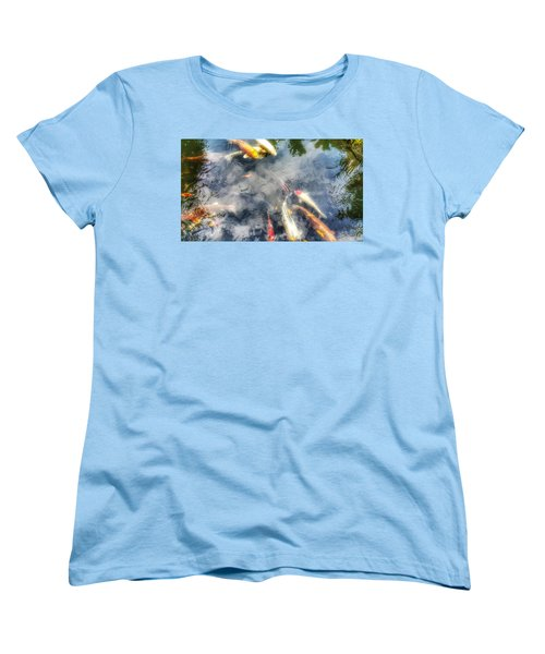 Reflections And Fish 4 Women's T-Shirt (Standard Cut) by Isabella F Abbie Shores FRSA