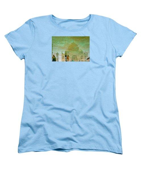 Reflections At The Taj Women's T-Shirt (Standard Cut) by Michael Cinnamond