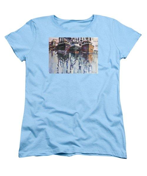 Women's T-Shirt (Standard Cut) featuring the painting Reflections II by Robert Joyner