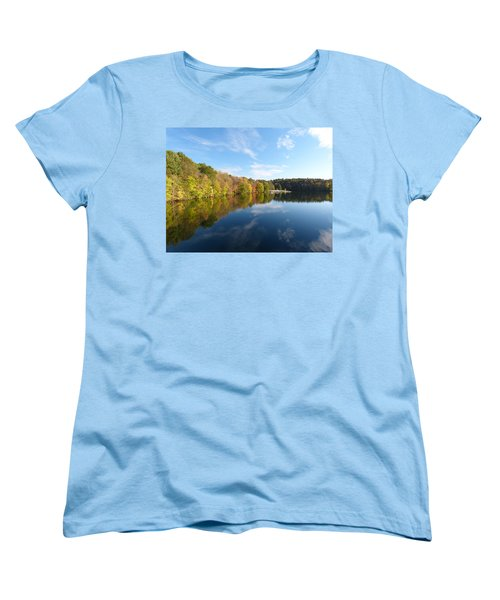 Reflections Of Autumn Women's T-Shirt (Standard Cut) by Donald C Morgan