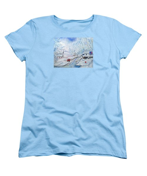 Refuge From The Storm Women's T-Shirt (Standard Cut) by Christine Lathrop