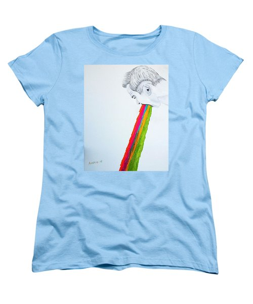 Women's T-Shirt (Standard Cut) featuring the painting Regurgitate by Edwin Alverio