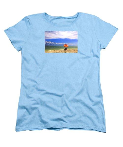 Women's T-Shirt (Standard Cut) featuring the digital art Relaxing On Sanibel by Sharon Batdorf