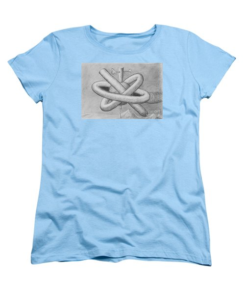 Women's T-Shirt (Standard Cut) featuring the drawing Religion Of Science by Yulia Kazansky