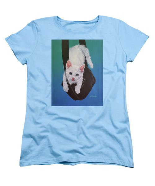 Women's T-Shirt (Standard Cut) featuring the painting Rembrandt Justa Swingin by Wendy Shoults