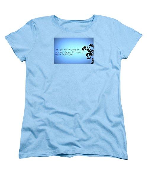 Women's T-Shirt (Standard Cut) featuring the photograph Remember by Artists With Autism Inc