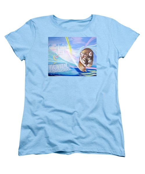 Women's T-Shirt (Standard Cut) featuring the painting Remembering Childhood Dreams by Phyllis Kaltenbach