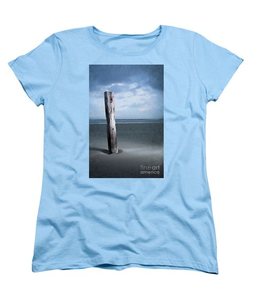 Women's T-Shirt (Standard Cut) featuring the painting Remnant Of The Past On Outer Banks Ap by Dan Carmichael
