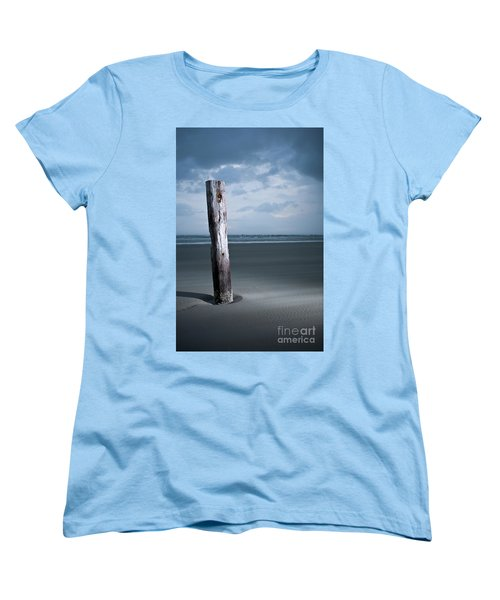 Women's T-Shirt (Standard Cut) featuring the photograph Remnant Of The Past On Outer Banks by Dan Carmichael
