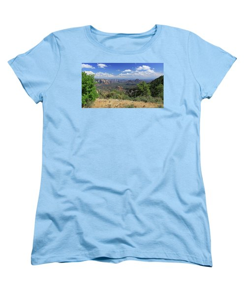 Remote Vista Women's T-Shirt (Standard Cut) by Gary Kaylor