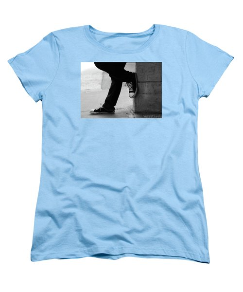 Women's T-Shirt (Standard Cut) featuring the photograph Rest Then Tackle  by Empty Wall