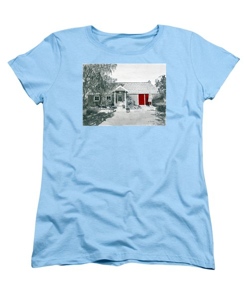 Retzlaff Winery With Red Door No. 2 Women's T-Shirt (Standard Cut) by Mike Robles