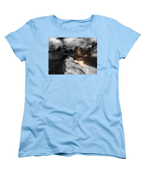 Rainbow In The Mist Women's T-Shirt (Standard Cut) by Sherman Perry