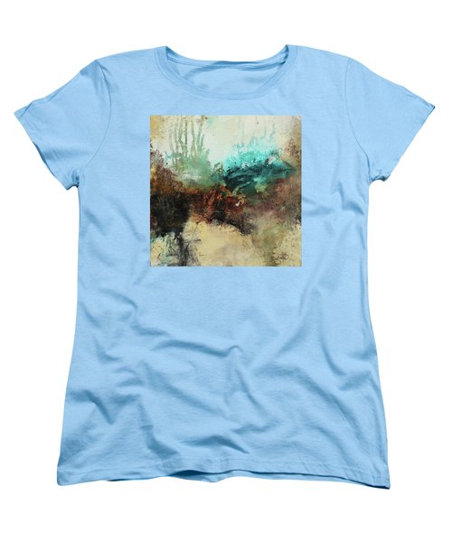 Rich Earth Tones Abstract Not For The Faint Of Heart Women's T-Shirt (Standard Cut) by Patricia Lintner