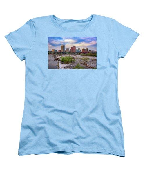 Women's T-Shirt (Standard Cut) featuring the photograph Richmond Skyline by Rick Berk