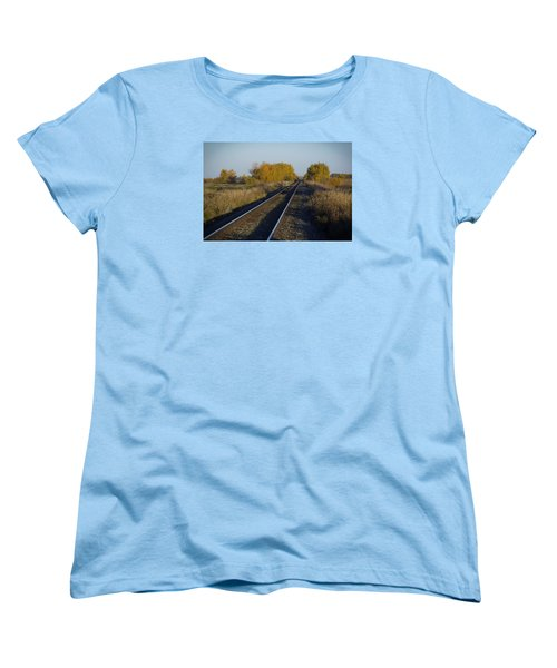 Riding The Rails Women's T-Shirt (Standard Cut) by Ellery Russell
