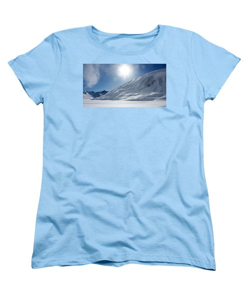 Women's T-Shirt (Standard Cut) featuring the photograph Rifflsee by Christian Zesewitz