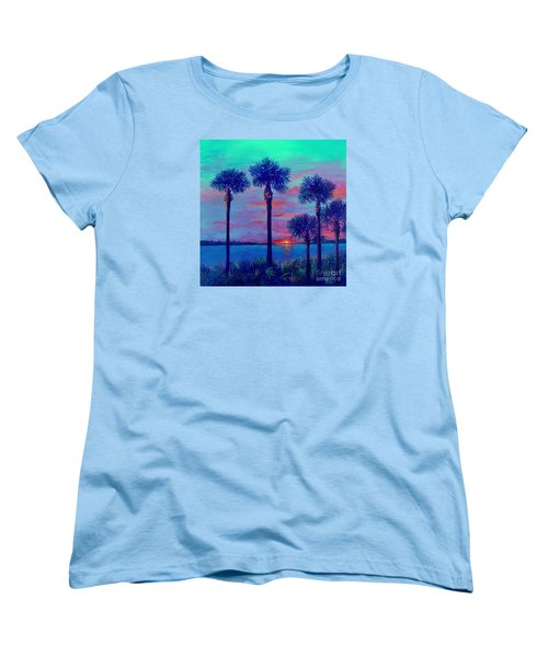 Ringling Bridge Sunset Women's T-Shirt (Standard Cut) by Lou Ann Bagnall