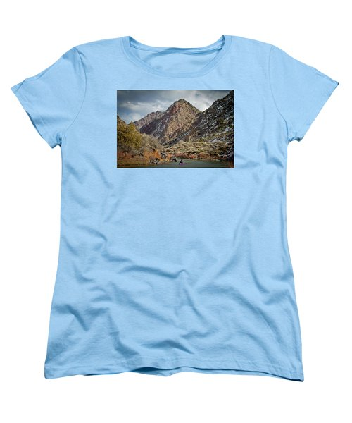 Women's T-Shirt (Standard Cut) featuring the photograph Rio Grande Racecourse In Winter by Atom Crawford