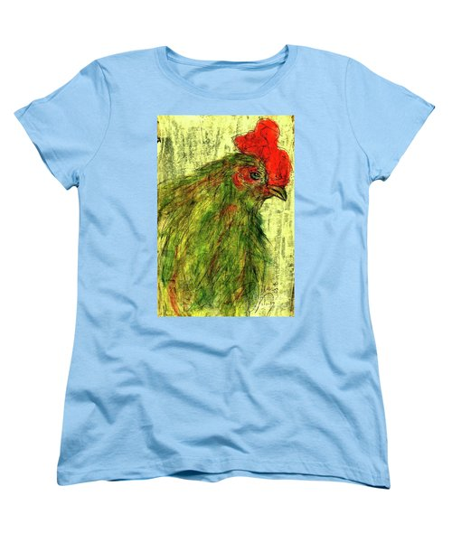 Women's T-Shirt (Standard Cut) featuring the drawing Rise And Shine  by P J Lewis
