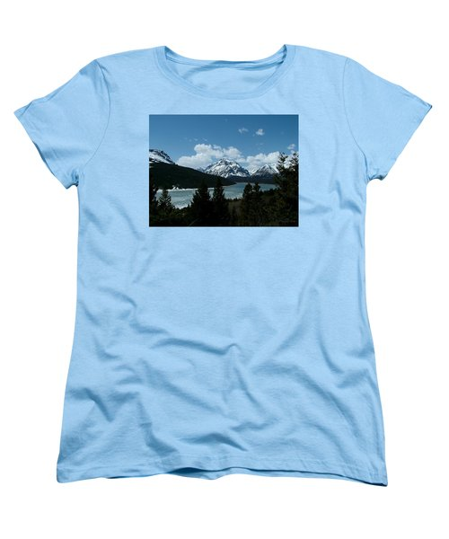 Rising Wolf And Two Medicine Lake Women's T-Shirt (Standard Cut)