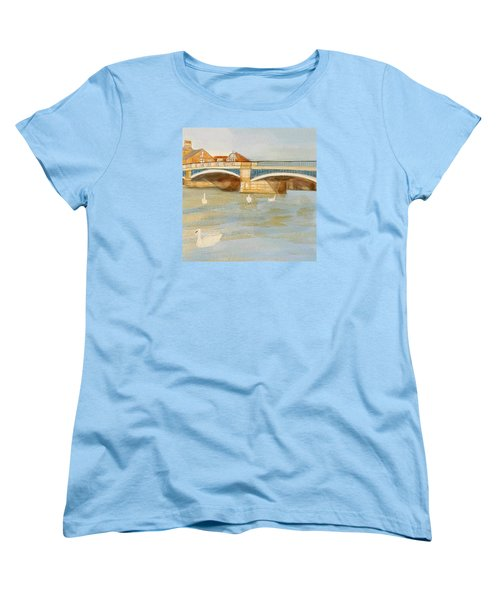 River At Royal Windsor Women's T-Shirt (Standard Cut) by Joanne Perkins