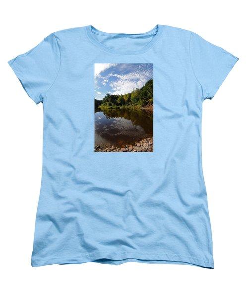 Women's T-Shirt (Standard Cut) featuring the photograph River Beauty by Sandra Updyke