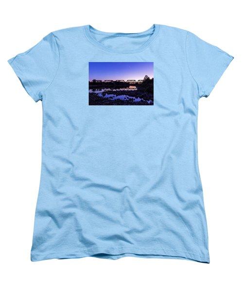 Women's T-Shirt (Standard Cut) featuring the photograph River Crossing by Alan Raasch