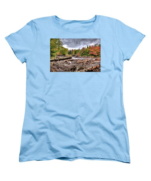 Women's T-Shirt (Standard Cut) featuring the photograph River Debris At Indian Rapids by David Patterson