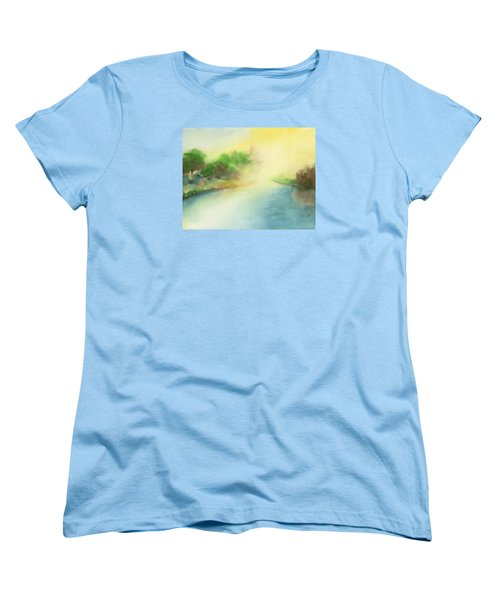River Morning Women's T-Shirt (Standard Cut) by Frank Bright