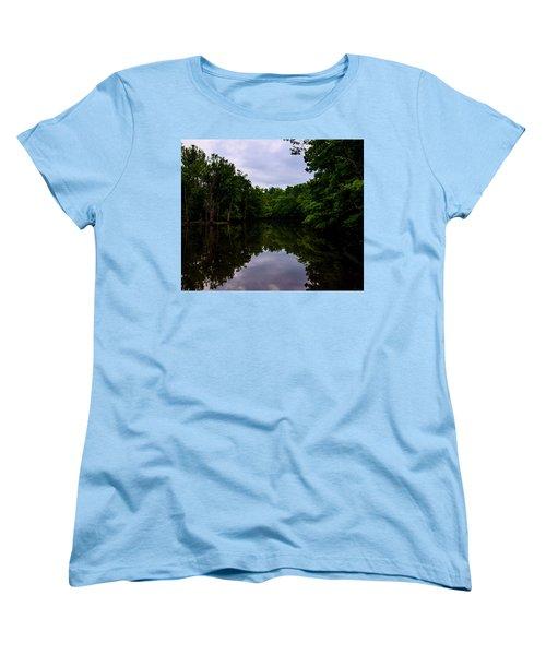 Women's T-Shirt (Standard Cut) featuring the digital art River Reflections by Chris Flees