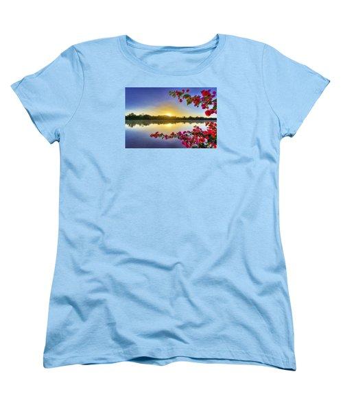 River Sunrise Women's T-Shirt (Standard Cut) by Nadia Sanowar