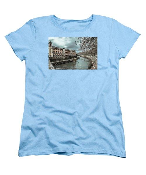 Women's T-Shirt (Standard Cut) featuring the photograph River Tiber by Sergey Simanovsky