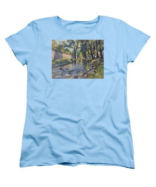 Riverjeker In The Maastricht City Park Women's T-Shirt (Standard Cut) by Nop Briex