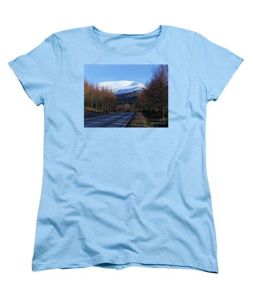 Women's T-Shirt (Standard Cut) featuring the photograph Road To Aonach Mor  by Phil Banks