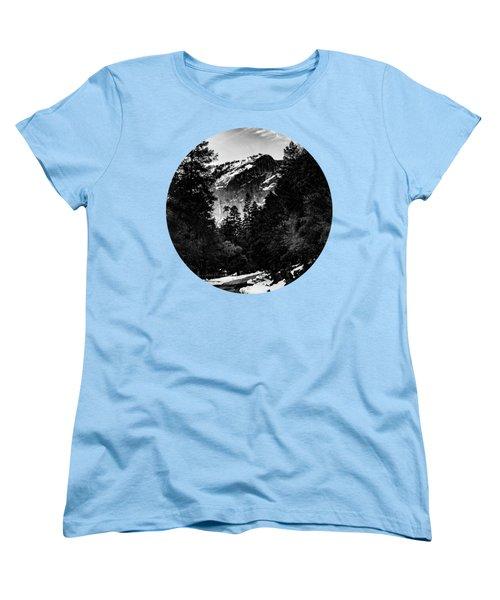 Road To Wonder, Black And White Women's T-Shirt (Standard Cut) by Adam Morsa