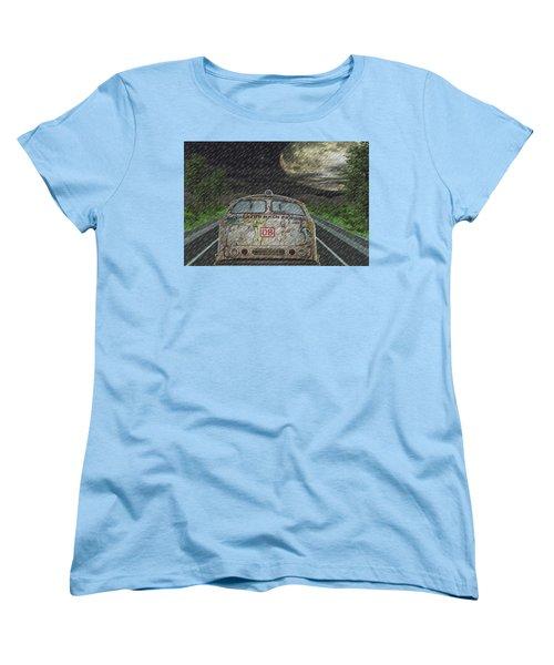 Road Trip In The Rain Women's T-Shirt (Standard Cut) by Angela Hobbs