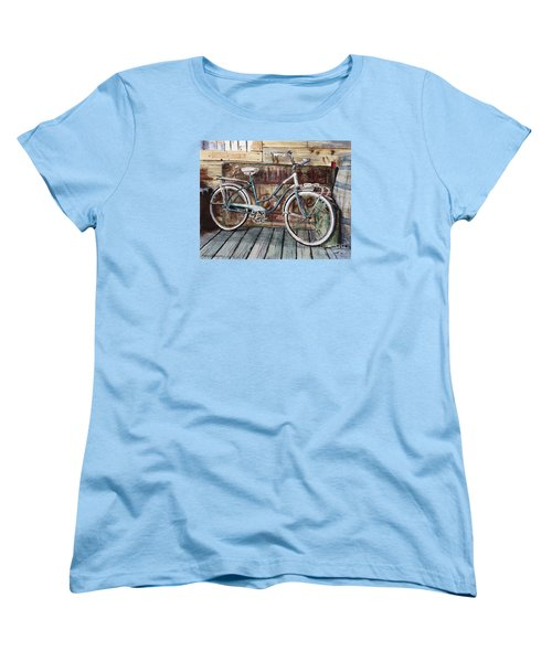 Roadmaster Bicycle Women's T-Shirt (Standard Cut) by Joey Agbayani