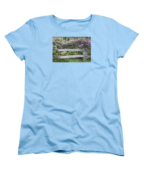Women's T-Shirt (Standard Cut) featuring the photograph Roan Mountain Azaleas by Tyson and Kathy Smith