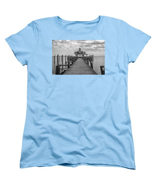 Women's T-Shirt (Standard Cut) featuring the photograph Roanoke Marshes Light by David Sutton