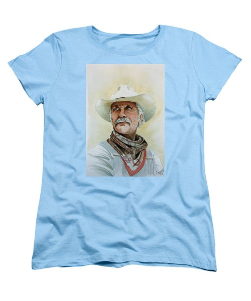 Robert Duvall As Augustus Mccrae In Lonesome Dove Women's T-Shirt (Standard Cut) by Jimmy Smith